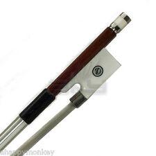 High Quality 4/4 Violin Bow Brazilwood Abalone w/ Imitated Elephant Tusk Frog