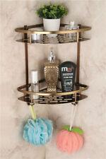 Kitchen Corner Shelf Aluminum Antique Storage Caddy Organizer Holder For Bath