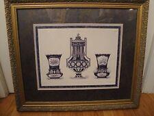 Sevres Designs by Edouard Garnier Mason Quantin Framed Color Lithograph