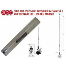SIRIO SMA 108-550 NE ANTENNA IN ACCIAIO VHF O UHF VEICOLARE 108 … 550 MHz TARABI