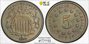 1870 XF Shield Nickel PCGS