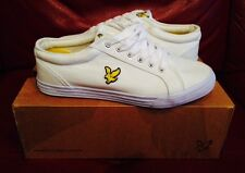 BNIB LYLE SCOTT FW023V48 WHITE HALKET CANVAS PUMP SIZE 6 RRP £50