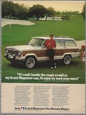 1984 JEEP GRAND WAGONEER advertisement, AMC with golfer Andy Bean