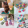 Girls Candy Color Flower BB Hair Clips Hairpins Barrettes DIY Hair Accessories