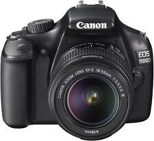 Canon EOS1100D Digital Camera, EFS 18-55mm & 55-250mm AF/MF Lens & Bag FREEPOST