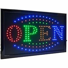 21.5&quotx13&quot Large High Visible Led Light Business Open Sign With Chain (4