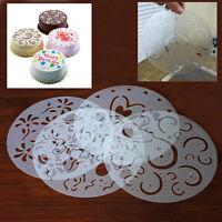 4 Stück DIY Rund Torten Deko Marzipan Kuchenschablone Tortenpapier -Kits