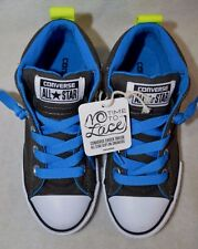 Converse Boy's All Star CT Street Mid Black/Electric Blue Sneakers-Size 13 NWOB