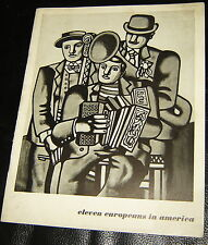1946 ELEVEN EUROPEANS IN AMERICA MUSEUM OF MODERN ART MOMA CHAGALL ERNST BOOKLET