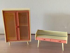 dänische Schlafzimmer Möbel Puppenstube/Puppenhaus Ausstattung Möbel 70er Jahre