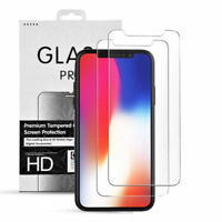 2x Apple iPhone X Schutzfolie Schutzglas Panzer Folie Echt Glas Displayschutz 9H
