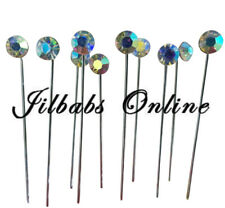 10  Crystal AB Diamante  Hijab Scarf Brooch Pins