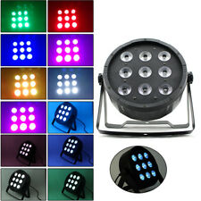 4x DMX512 RGBW LED Flat Par Light Bühnenbeleuchtung 7 Steuerkanäle PAR 9x10W DHL