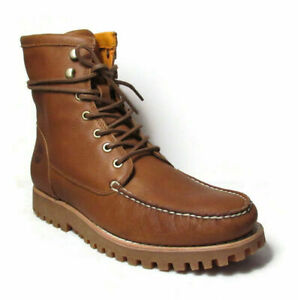 """TIMBERLAND Jacksons Landing Men's 6"""" Brown Leather Moc Toe Boots  A2CAF"""
