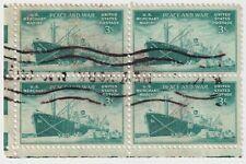 1946 USA - Merchant Marine - Block 4 x 3 Cent Stamps