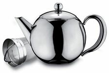 Rondeo Stainless Steel 0.5L 17oz Tea Pot With Infuser Non Drip Dishwasher Safe