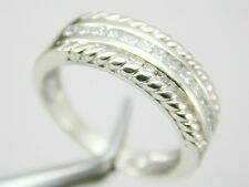 2141 Baguette Diamond 0.65 ct TW Wedding Band Ring 14k Solid White Gold  Sz 10