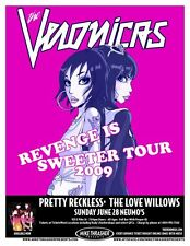 THE VERONICAS 2009 Gig POSTER Seattle Washington Concert