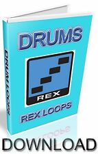 1,748 DRUM REX LOOPS -  REASON REFILL - CUBASE - PRO TOOLS - LOGIC - ABLETON