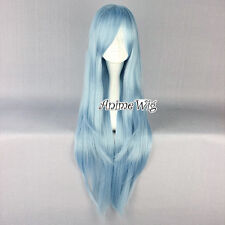 80CM Blue Long Wavy Style Anime Cosplay Hair Sword Art Online Asuna Yuuki Wig