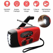 Portable Emergency Solar Hand Crank Radio AM/FM/WB LED Flashlight Phone Charger