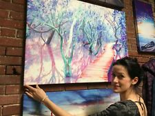 Mangrove Huge Canvas Print New Zealand Ready to Hang Abstract Oil Paint