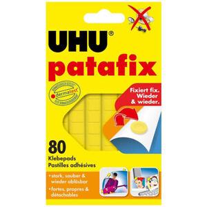 UHU Patafix Yellow Self Adhesive Sealed Pads Glue Home Decoration 80pcs