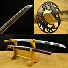 US Handmade T10 Folded Steel Japanese Samurai Sword Katana Full Tang Blade sharp