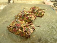 Flames of War Camouflaged Panzer IVH Plt (3 Tanks with two commanders)