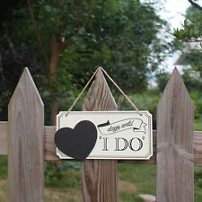 Lovely Wooden Heart Pattern Wedding Sign Photo Prop Wedding Marriage Decoration
