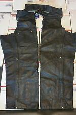Harley Style Custom Heavy Duty Leather Chaps XXL - XXXL Large YKK Zippers