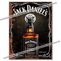 Choose Your Size JACK DANIELS WHISKY Metal Stool or Storage Bin Vintage Retro