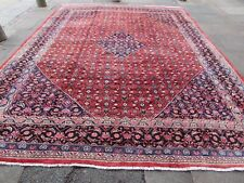 Vintage Hand Made Traditional Rugs Oriental Wool Red Blue Large Carpet 396x309cm
