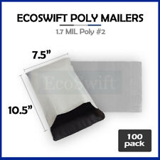 100 75 X 105 White Poly Mailers Shipping Envelopes Self Sealing Bags 17 Mil