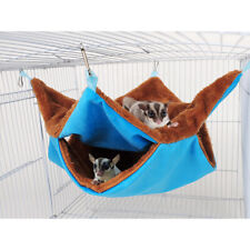 Pet Bird Ferret Rat Squirrel Hamster Hammock Hanging Cage Nest Bed House Toys L