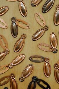 X1 Vintage Escutcheon Keyhole Cover Antique Copper Plated Original Door Fixture