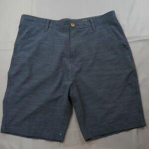Vissla Hybrid Board Shorts Swim Trunks Size 34 Stretch Blue Chino Recycled