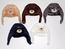 USA Cute winter baby Animal Hat Bear 0-3 years white brown gray blue 1 size
