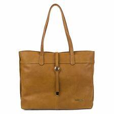 NEW WNT Stella & Max Genuine Leather Tote Bag With Zipper Closure Handbag - Tan