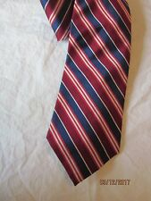 Brooks Brothers Blue and Red Striped Silk Neck Tie