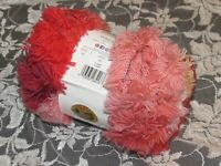 NEW LION THAT '70s YARN Funky Hot Pink Red Yarn Acrylic Poly 100 g Turkey H H