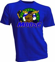 MINNESOTA MOOSE Defunct St. Paul MN IHL Hockey Team Retro Blue T-SHIRT NEW