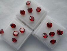 6mm rosso zirconi ROUND Cut LOOSE Stones 2 PER £ 1.