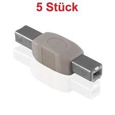 2.0 USB Adapter Verbindungsstück Verbindung Stück für Kabel auf 2x B Stecker