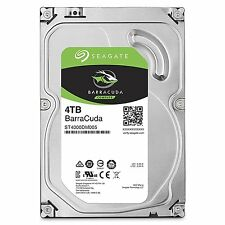 "Seagate BarraCuda 4 TB 3.5"" Internal Hard Drive ST4000DM005 4TB  7200RPM 64MB"