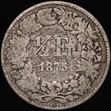 More details for 1875 | switzerland ½ franc | silver | coins | km coins