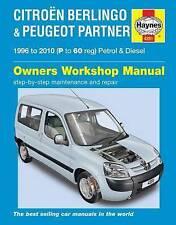 Haynes Car Workshop Repair Manual Citroen Berlingo Petrol & Diesel 96 - 10
