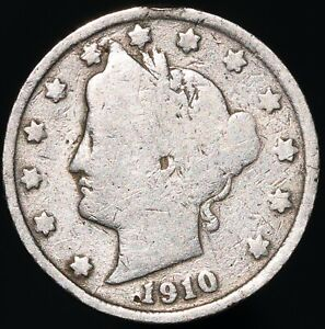 1910   U.S.A. Liberty Nickel 5 Cents   Cupro-Nickel   Coins   KM Coins