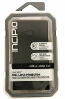 Incipio DualPro Dual Layer Protection Case For Nokia Lumia 735 Black NEW