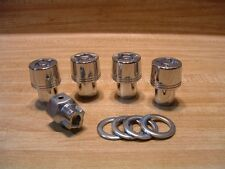 Set of 4 Chrome SuperNuts Locking 12mmx1.25 Mag Wheel Lugs, Washers, Removal Key